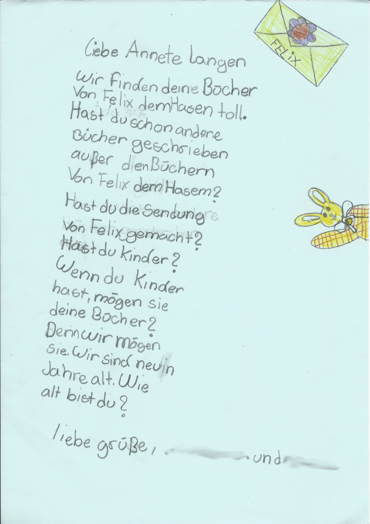 Brief Elisabeth Emely